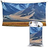 XCNGG Toallas de baño de secado rápido Toallas de baño para el hogar Toallas Quick Dry Bath Towel, Absorbent Soft Beach Towels, Pamir Tajikistan for Camping, Backpacking, Gym, Travelling, Swimming,Yog