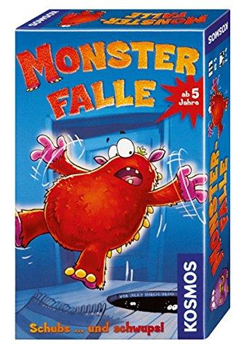 KOSMOS 710934 - Monsterfalle, Mitbringspiel für Kinder ab 5 Jahre, für 2 bis 4 Spieler