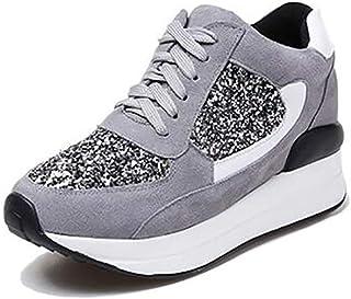 Zapatos de Mujer,Talla pequeña,33,realce Interno,Calzado Deportivo,Fondo Grueso,Cuero,Zapatillas de Deporte,Zapatos Casuales