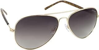 Red Carpet Women's Champagne Polarized Aviator Sunglasses, Light Gold Frame/Yellow Demi Temples, 58mm