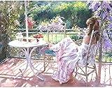 Diy Pintura al óleo Pintura por números Kits para adultos Niños Principiante Chica descansando en el balcón Dibujo preimpreso con pinceles y pigmento acrílico Arte de la lona Decor-with Frame-40x50cm