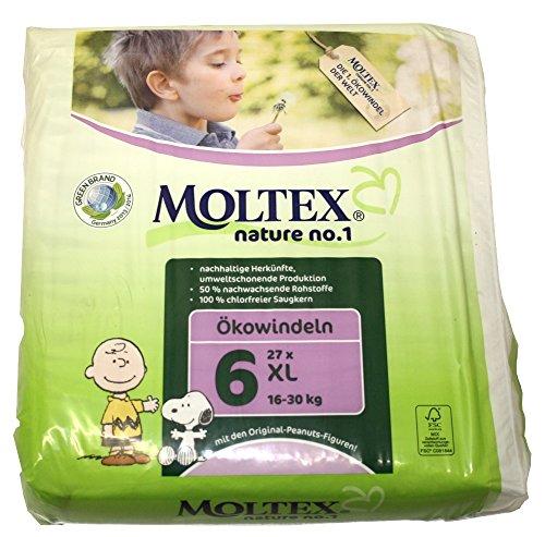Moltex Nature No1 Lot bébé couches XL Taille 6 (16–30 kg) 27 pièce Peanuts
