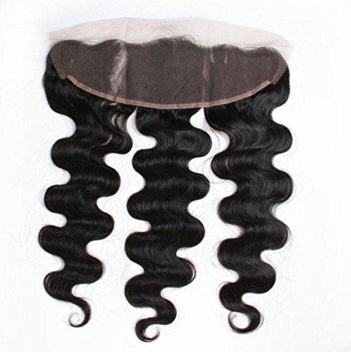 Meylee Postiches 6 a cheveux vierges gratuit partie dentelle fermeture frontale 13 x 4 60g aux oreilles Body Wave cheveux humains brésiliens haut dent