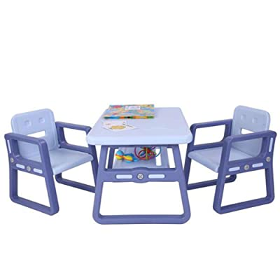 Lovinland Kids Table and Chairs Set 3 Piece Kid...