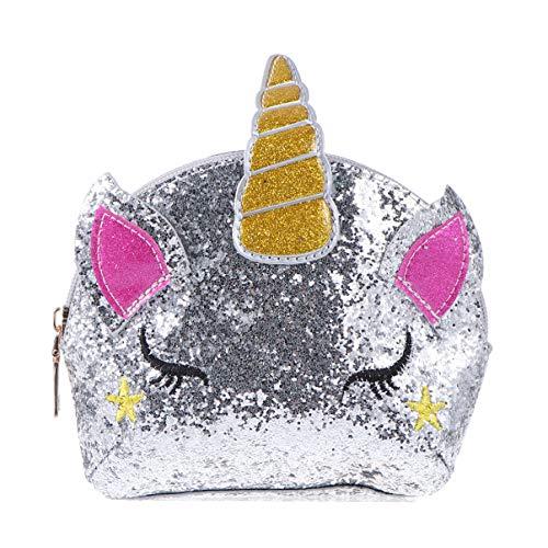 VALICLUD Bolso Cruzado de Lentejuelas de Unicornio Mini Bolsos Lindos Bolso de Mensajero de Cadena Casual Bolso de Hombro para Mujeres Niñas