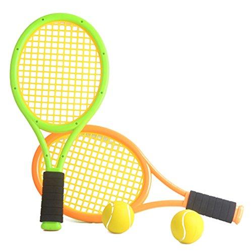 Leic Racchetta da Tennis Due Giocatori Racchetta da Badminton Sport Indoor e Outdoor Giocattolo da Allenamento Set di Palline per Bambini