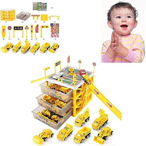 Auto Garage Brandweer Speelgoed Auto-Opslag Parking Lot Met Glijbanen Voor Voertuigen Firefighter Rollenspel Speeltjes, Voor 3-12 Jaar Oud Verjaardag Gifts