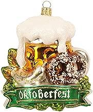 Oktoberfest Octoberfest Bavarian Germany with Beer and Pretzel Polish Glass Christmas Ornament Travel Souvenir Decoration