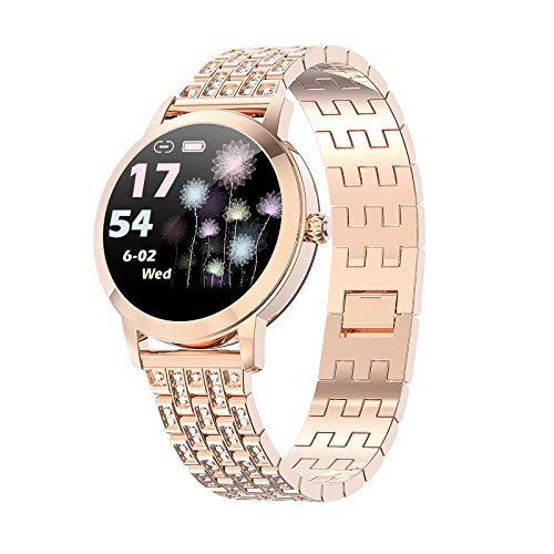 ZQD Reloj Inteligente Mujer Smartwatch IP68 con Presión Arterial Recordatorio Menstrual Pulsómetro Monitor de Sueño Notificaciones Inteligentes, para iOS y Android[Diseñado para Mujeres]