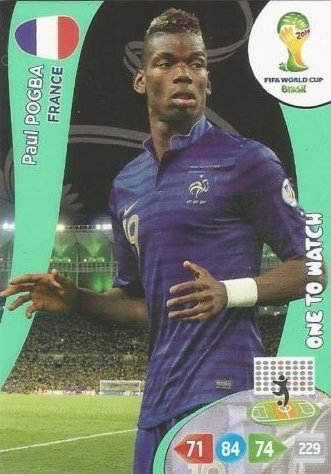 FIFA World Cup 2014 Brazil Adrenalyn XL Paul Pogba One To Watch