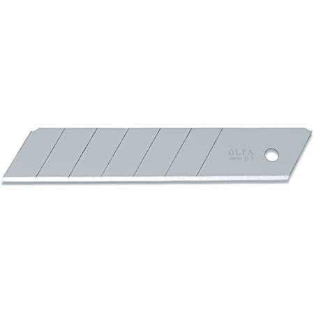 Olfa HB-20 Cuchilla cutter troceable 126x25mm, Negro, Set de 20 Piezas