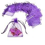 JZK® 50 Piezas bolsas de organza morado para boda cumpleaños baby shower...