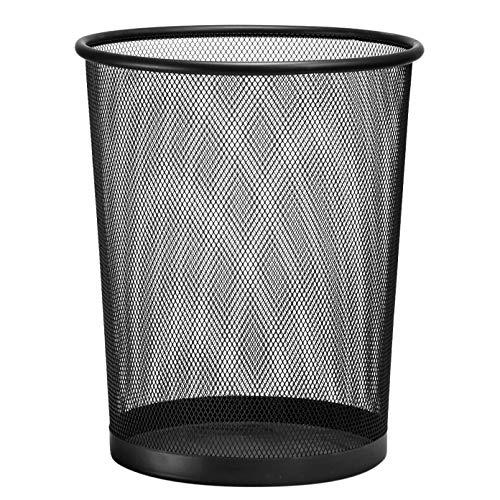 D.RECT Papierkorb aus Drahtgeflecht Draht Mesh | Büro Mülleimer | Abfalleimer | Papiereimer 19L Schwarz