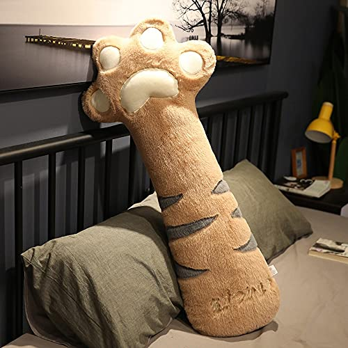 YMQKX 70-95cm Cojín de Pata de Gato súper Lindo Almohada de Felpa Larga Pata de Oso de Peluche Dormitorio Almohada de Abrazo Decoración del hogar Regalos 95CM Lightbrown