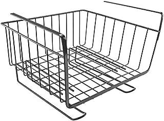 Beauenty Under Cabinets Shelf Basket Rack Shelf Storage Organization Basket (Black)