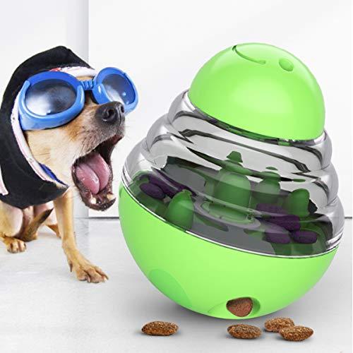 Leckerli-Spender für Hunde, verstellbares Futter-Loch, erhöht das Training, Haustier-Spielen, IQ-Leckerli-Ball für kleine, mittelgroße Hunde und Katzen, Hundespielzeug, Futterspender Ball,