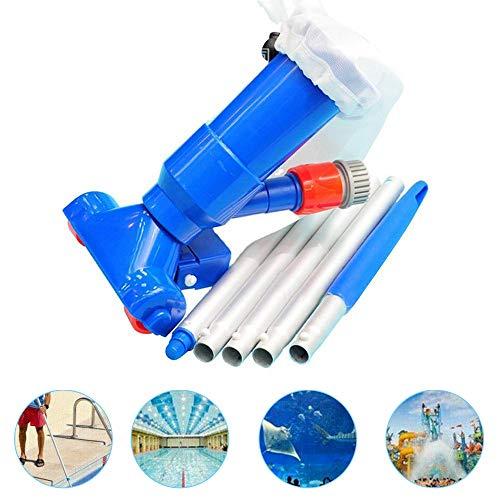 panthem Poolsauger Staubsauger, Schwimmbad Staubsauger 5-polige Abschnitte Saugspitzenanschluss Einlass Tragbares abnehmbares Reinigungswerkzeug (Blue)