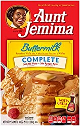 Aunt Jemima Pancake & Waffle Mix, Buttermilk Complete, 50 Serving Box