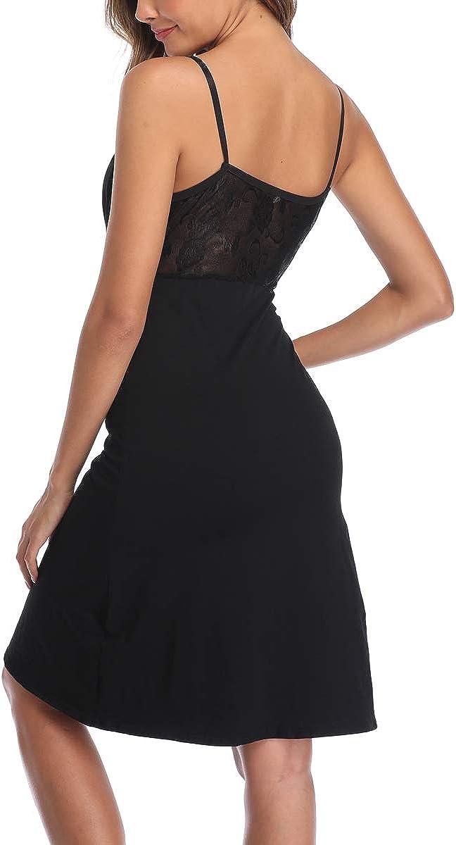 MissTalk Womens Maternity Dress Knee Length Pregnancy Nursing Dress Black