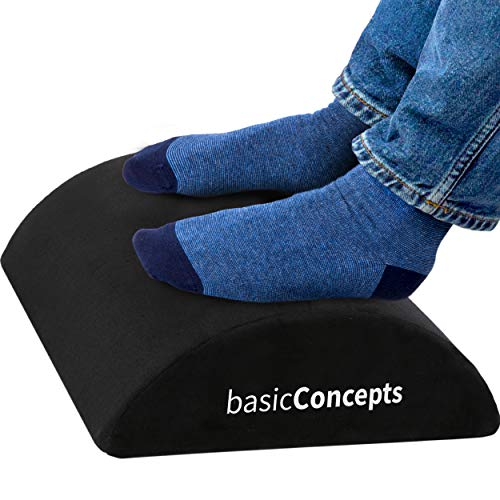 Foot Rest for Under Desk at Work (Soft but Firm), Ergonomic Office Desk Foot Rest 18' x 12', Under Desk Footrest with Washable Cover, Desk Foot Stool Work from Home Accessories