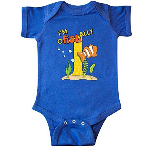 inktastic - I'm O-Fish-Ally One Cute Infant Creeper 12 Months Royal Blue 28f9a