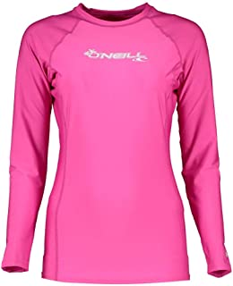 comprar comparacion O'Neill Wetsuits Women's Basic Skins Long Sleeve Rash Guard Camiseta de Sol Mujer