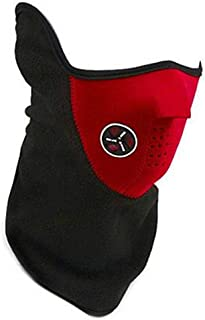 TRIXES Red Neoprene & Fleece Half Face & Neck Warmer for Ski Snowboard Airsoft