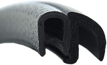 Klemmbereich 5-6 mm DS29 Dichtungsprofil von SMI-Kantenschutzprofi mit Dichtung seitlich aus EPDM Moosgummi selbstklemmend ohne Kleber einfache Montage 10 m Dichtungsprofil
