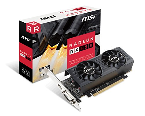 MSI Gaming Radeon RX 550 128-bit 2GB GDRR5 DirectX 12 VR Ready Graphcis Card (RX 550 2GT LP OC)