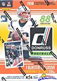 2018 Donruss NFL Football EXCLUSIVE HUGE Factory Sealed Retail Box with MEMORABILIA Card & ONE ROOKIE Per Pack! Look for RC's & Auto's of Baker Mayfield, Saq... rookie card picture