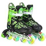 YSCYLY Kinder Quad Skate,Rollschuhe für Männer und Frauen verstellbar,Inline-Skates Einstellbare GrößE des Schuhs