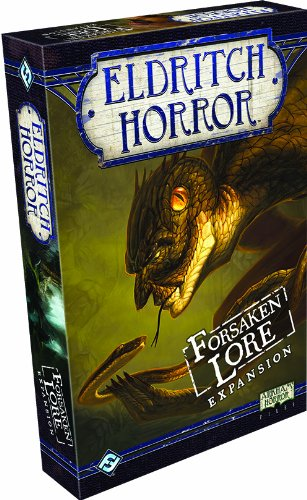 Eldritch Horror Forsaken Lore Board Game EXPANSION | Mystery Game | Cooperative Board Game for Adults and Family | Ages 14+ | 1-8 Players | Avg. Playtime 2-4 Hours | Made by Fantasy Flight Games