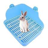 VILLCASE - Inodoro de plástico con forma de conejo, para mascotas, para entrenamiento, para hámster, ratón de carreras, conejo, chinchilla, cobayas, hurones, color rosa
