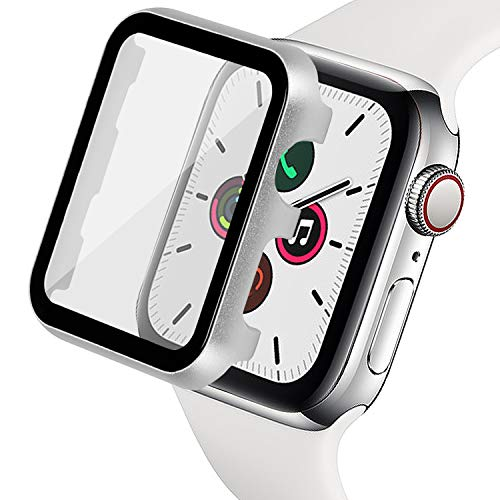 Ritastar for Apple Watch Cover with Screen Protector 38mm,Thin Plating Metal Bumper Case and Hard PET Protective Film,High Sensitive Touch,Impact Resistant,No Bubble for iWatch Series 3/2/1,Silver
