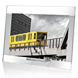 OMODOMO - Marco de cristal para fotos de 24 x 18 cm, hecho a