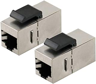 8 Pack White Uptell RJ 45 Keystone Jack Module Cat 5E FTP 500 Mhz 10GB No Tools Needed