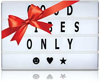 Cinema Light Box, Light Box with Letters, Cinematic Light Box, Light Up Box, Cinema Box, Letter Light Box, Light Up Sign, 4 Rows, with 200 Letters, 32 LED Lights and USB Cable, 16.5