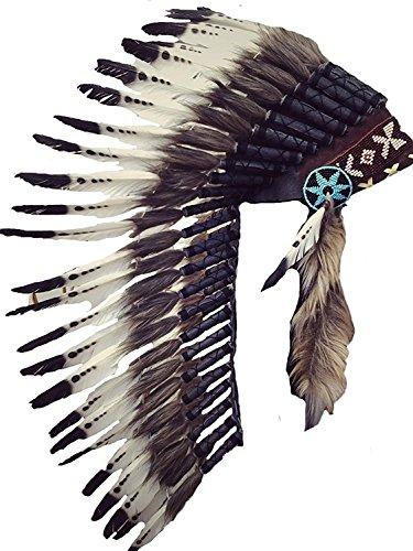 KARMABCN Medium Feather Headdress (Braunem Pelz)