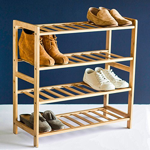 STNDRD. Bamboo Wood Shoe Rack Organizer