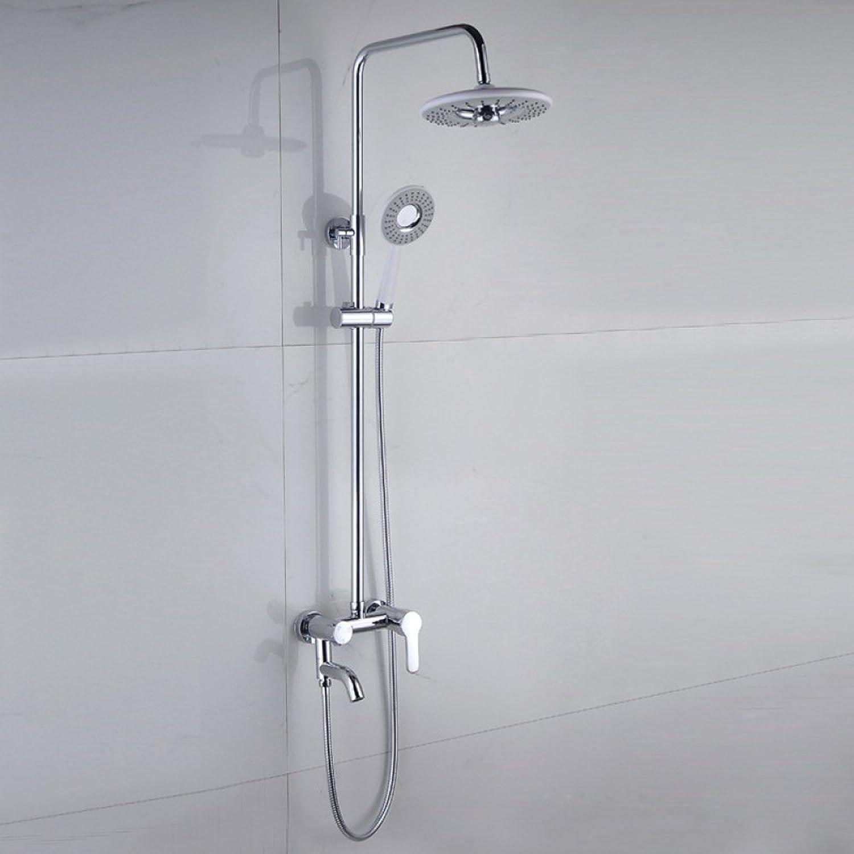 TOU Dusche Dusche im Dritten Gang Regenbrausedusche,Silber -