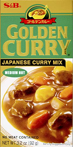 S&B, Golden Curry Sauce Mix, Medium Hot, 3.2 oz