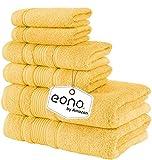 Eono by Amazon, Toallas de SPA y Hotel Juego de Toallas de 6 Piezas, 2 Toallas de baño, 2 Toallas de Mano y 2...