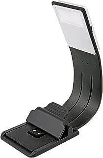 [Lámpara de Lectura LED] Aimego USB Recargables Lámparas-Clips 4 Brillo Ajustable Plegable para Libros, Kindle, iPad, Portátiles, etc. (Negro)