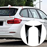 GOINUS Finestrino Posteriore in ABS per Spoiler Laterale per BMW Serie 3 F31 Wagon 2012-2018, separatore d'Aria per Spoiler Canard per lunotto Posteriore, Installazione Adesivo 3M, Nero Lucido