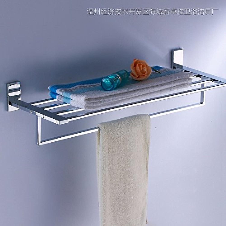 Bathroom brass chrome single shelf-@wei
