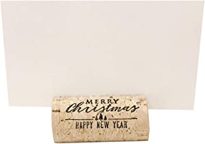 Wine Cork Place Card Holders Custom Cork Card Holders Merry Christmas Set of 25 Includes Place Cards Christmas Place Cards Christmas Place Card Holders Holiday Table Setting Holiday Party Decor