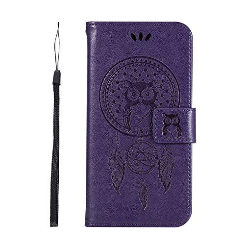 QiuKui Case para ZTE Z MAX Pro Z981 Z988 Blade V8 V6 Plus V7 Lite, Caja de la Billetera Slot Wallet para ZTE AXON 7 Z982 N9132 Z839 Avid 4 N9137 C83Z (Color : Purple, Talla : For ZTE V6 Plus)