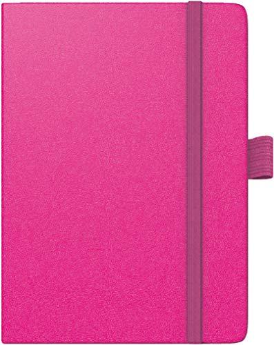 BRUNNEN 1073266261 Taschenkalender Modell 732 Kompagnon, 2 Seiten = 1 Woche, 10 x 14 cm, Baladek-Einband pink, Kalendarium für 18 Monate (Juli 2020 bis Dezember 2021)