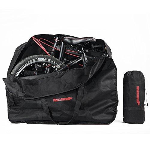 """Selighting Fahrrad Transporttasche von WILDKEN Tragetasche Fahrrad Transport Abwahrungstasche für 20\"""" Faltrad (Schwarz)"""