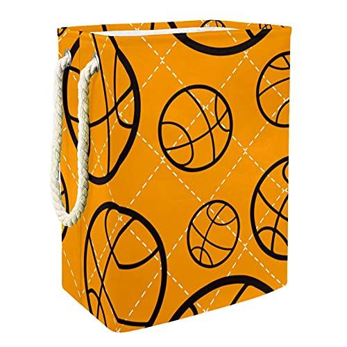 Caja de almacenaje Baloncesto Cesta de Almacenamiento Plegable Organizador Cestas de Ropa Baño para Bebés Toallas Manta Cesto de Guardería con Asa 49x30x40.5 cm